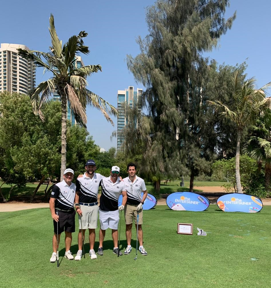 Proud sponsors of hole 4, DHL Swing Against Cancer Golf Series. Pictured (Left to Right): Paul Dillon, James Ashton-Smith, Paul Wallis & John Clayman